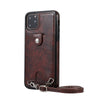 Vintage PU Leather Back Case For iPhone 11 Pro Max XR X Xs Max Wallet Card Phone Case for iPhone 6 6S 7 8 Plus Case With Strap