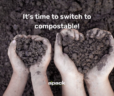 It's time to switch to compostable - Apack Commercial Wholesale Cleaning Supplies