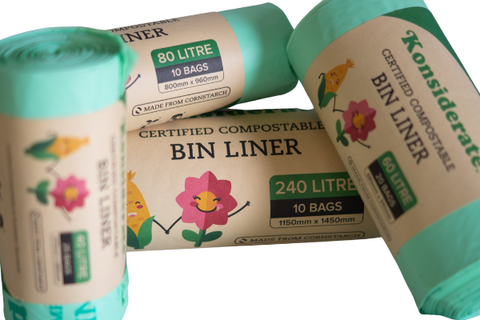 compostable bin liner - commercial cleaning supplies sunshine coast