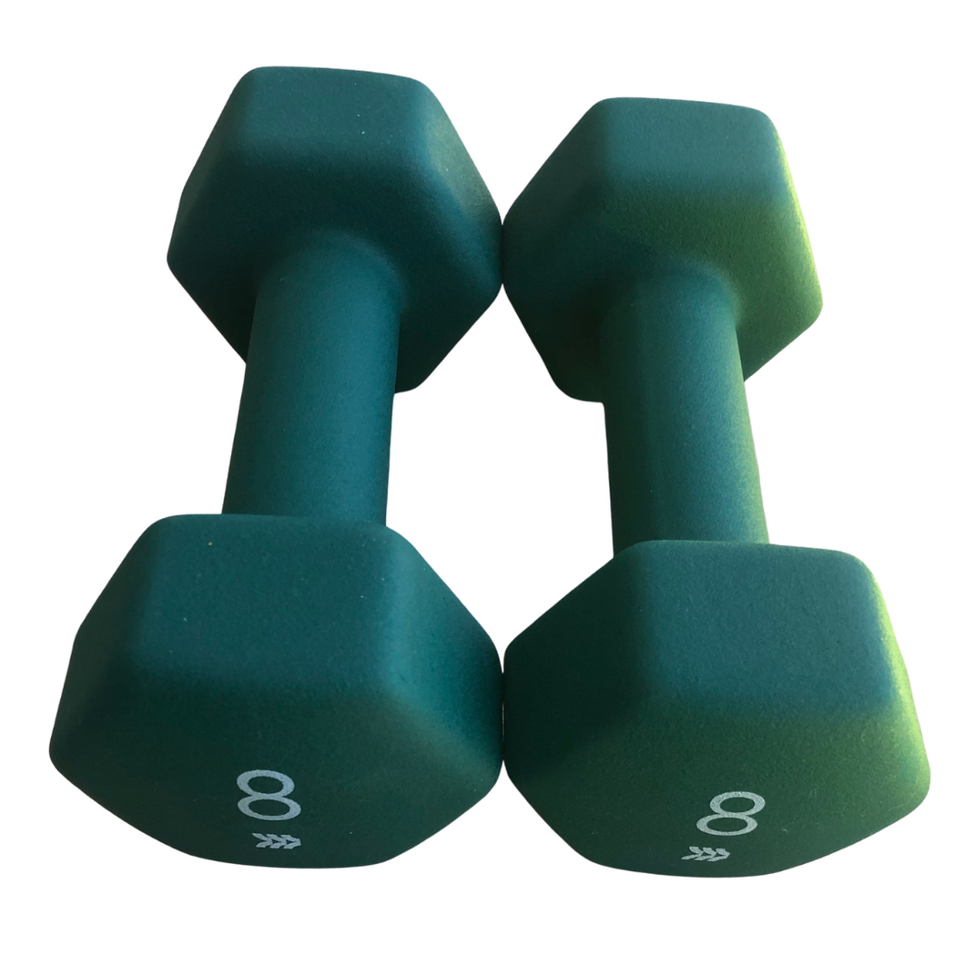 NEOPRENE DUMBBELLS - 8 LBS