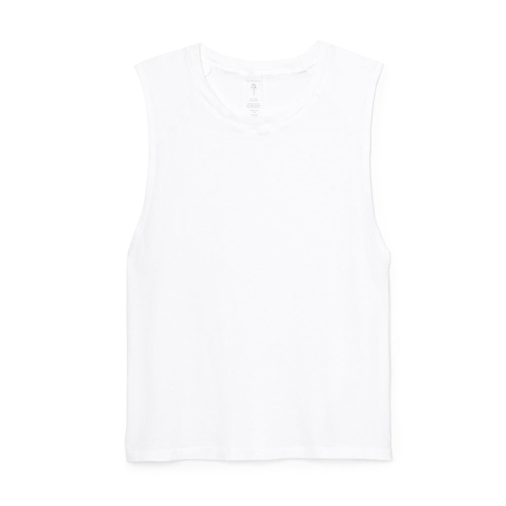 ELECTRIC & ROSE FREEMONT WHITE MUSCLE TEE