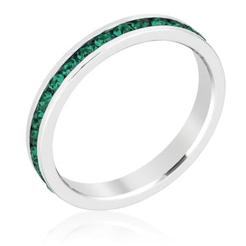 Stylish Stackables Emerald Crystal Ring