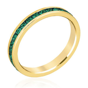 Stylish Stackables Eternity Green Crystal Ring