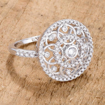 Interlocking Circles Ring with CZ