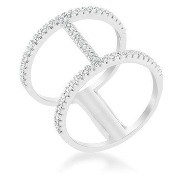 Open Contemporary CZ Wide Ring