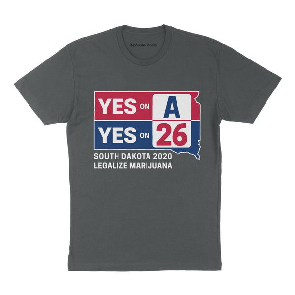 YES on A & YES on 26 Short Sleeve Tee