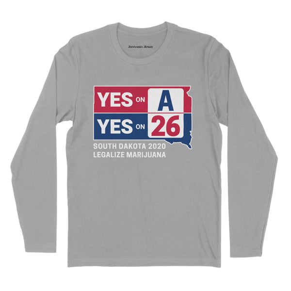 YES on A & YES on 26 Long Sleeve Tee