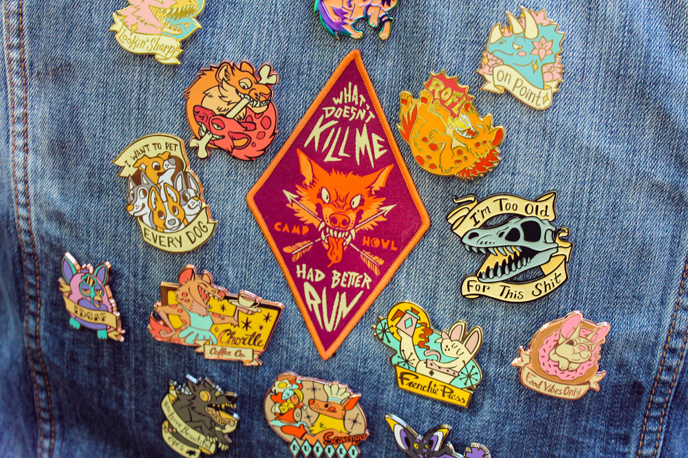 Enamel Pins and Patches