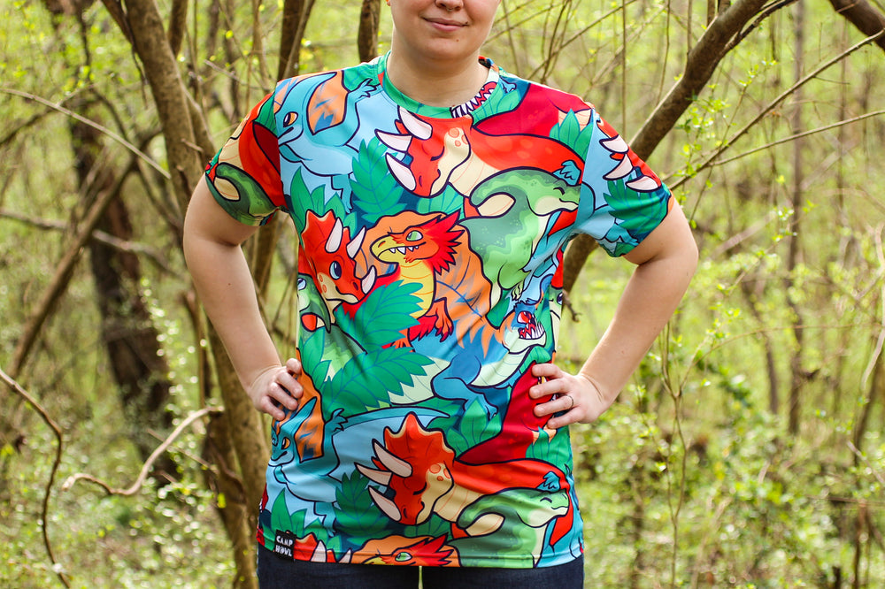 *NEW* All Over Patterned Dinosaur Tee Shirt