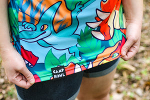 Load image into Gallery viewer, *NEW* All Over Patterned Dinosaur Tee Shirt
