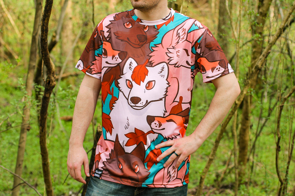 *NEW* All Over Patterned Fox Tee Shirt