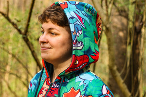 Load image into Gallery viewer, *NEW* All Over Patterned Dinosaur Hoodie