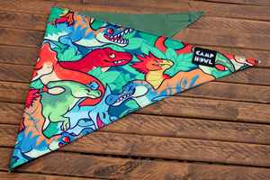 Load image into Gallery viewer, MISPRINT Dinosaur Bandana