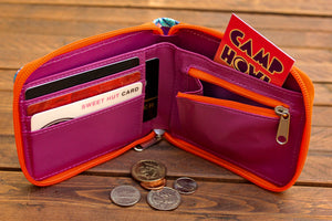 Load image into Gallery viewer, Bat Bifold Zipper Wallet