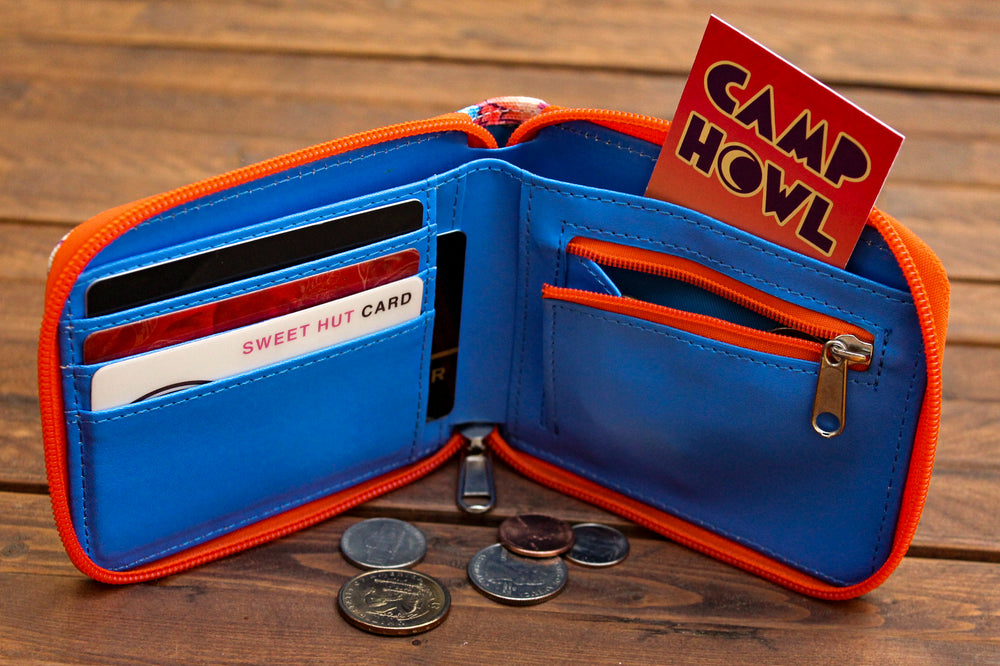 Wildcat Bifold Zipper Wallet