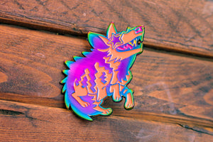 Hyped Hyena - Soft Enamel Rainbow Pin