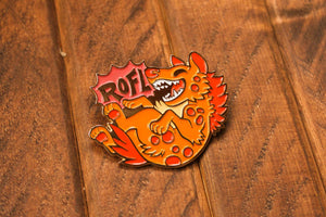 Load image into Gallery viewer, ROFL Hyena - Hard Enamel Pin