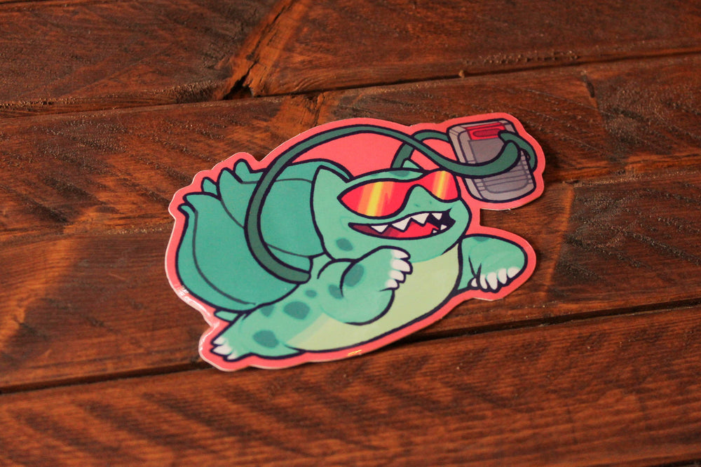 Load image into Gallery viewer, 90s Kid Bulbasaur Sticker
