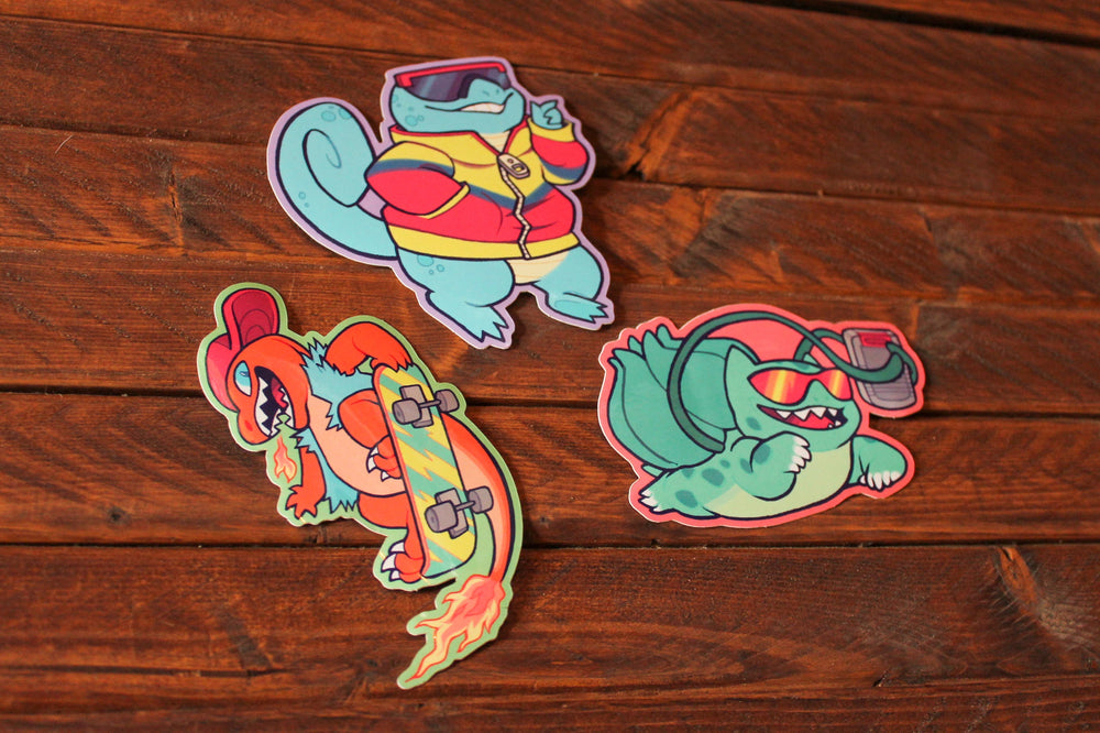 90s Kid Squirtle Sticker