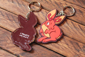 Load image into Gallery viewer, Jackalope Rubber Keychain