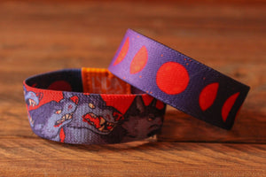 Halloween Fabric Bracelet - Werewolves