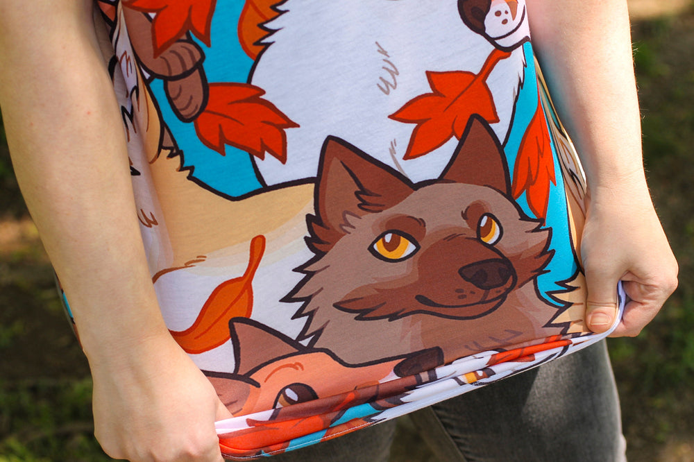 All Over Patterned Fox Tank Top