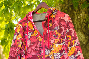 All Over Patterned Hyena Hoodie