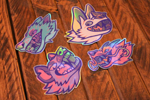 Holographic Animal Stickers