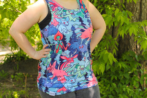 Load image into Gallery viewer, All Over Patterned Cryptozoology Tank Top