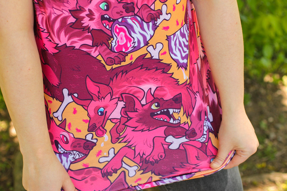 All Over Patterned Hyena Tank Top