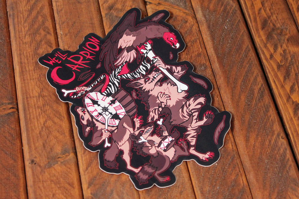 Load image into Gallery viewer, We'll Carrion Vinyl Sticker