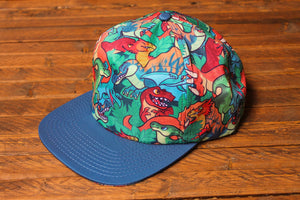 Load image into Gallery viewer, Printed Dinosaur Snapback