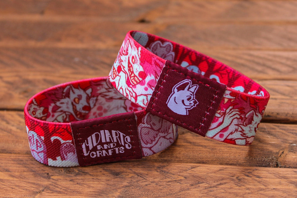 Load image into Gallery viewer, Halloween Fabric Bracelet - Banshyeen