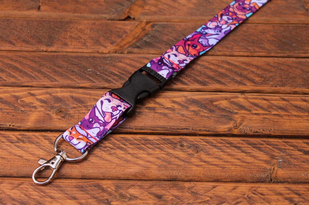 Dog Lanyard with Buckle and Lobster Claw