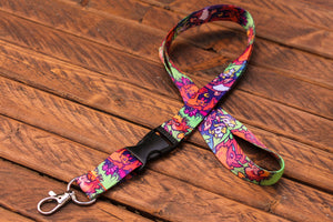 Bat Lanyard with Buckle and Lobster Claw