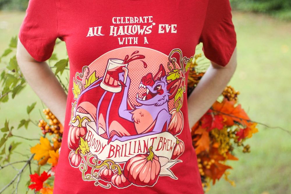 "Red ""Bloody Brilliant Brew"" Tee Shirt"