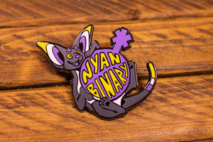 Nyan Binary - Hard Enamel Pin
