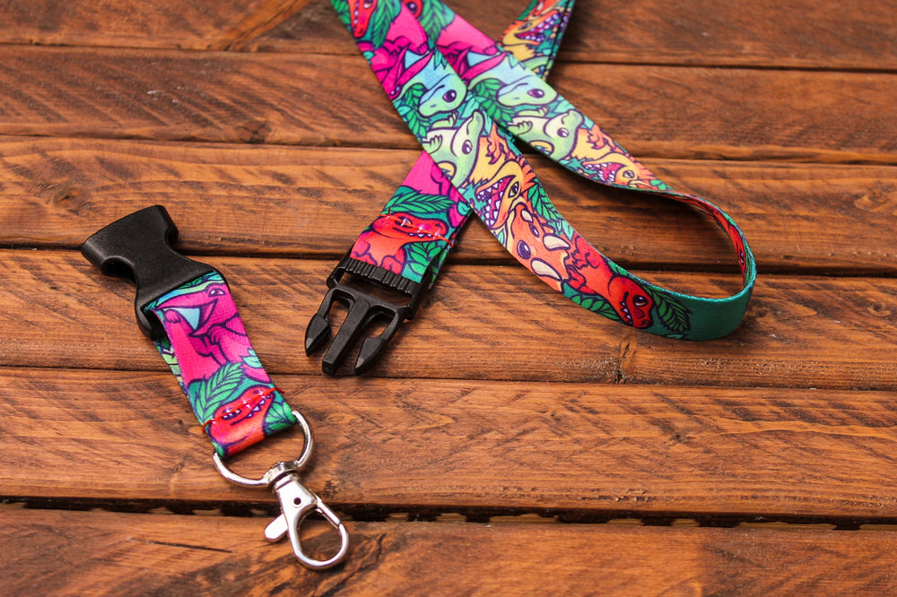 Dinosaur Lanyard with Buckle and Lobster Claw