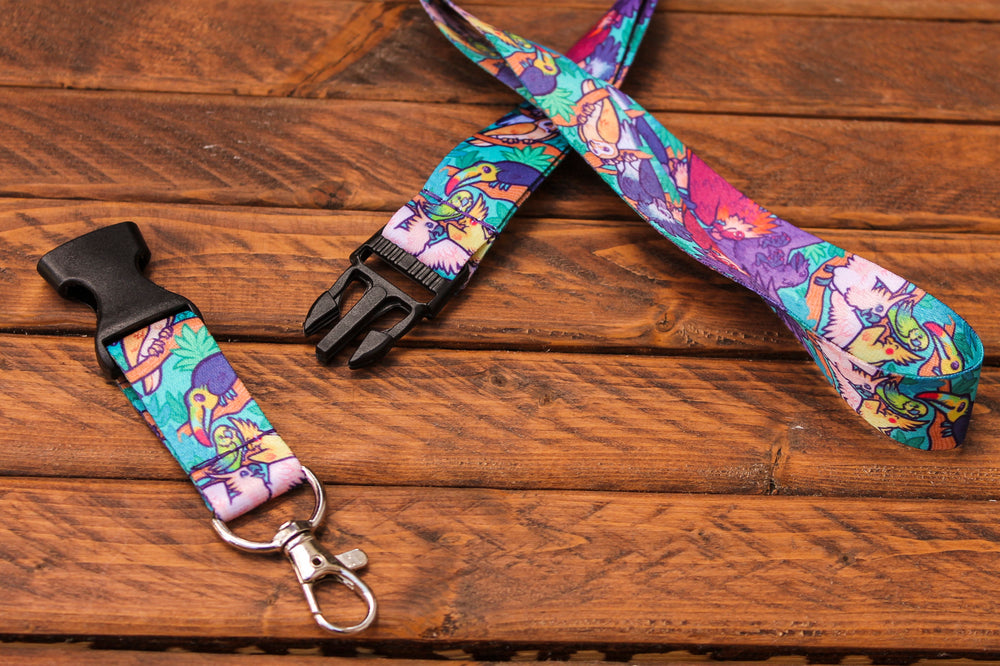 Bird Lanyard with Buckle and Lobster Claw