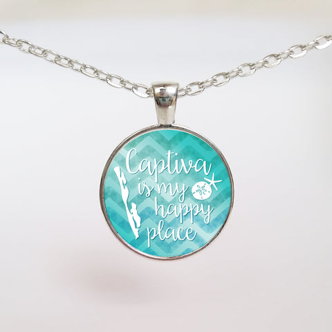 Captiva is My Happy Place Necklace