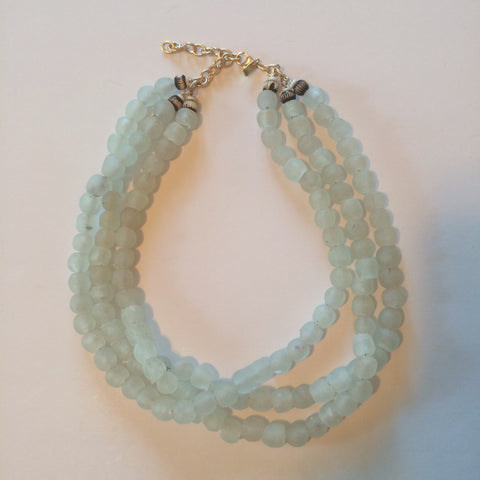 Jonesy Wood - Sara Triple Strand Clear Necklace - ChloesofCaptiva.com