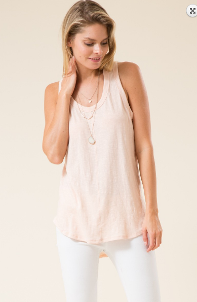 Round Hem Racer Tank Dress