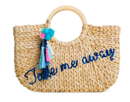 Take Me Away Beach Basket Tote