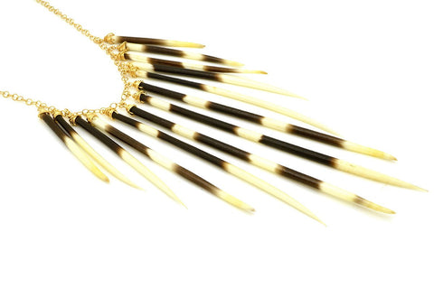 Multi Porcupine Quill Necklace