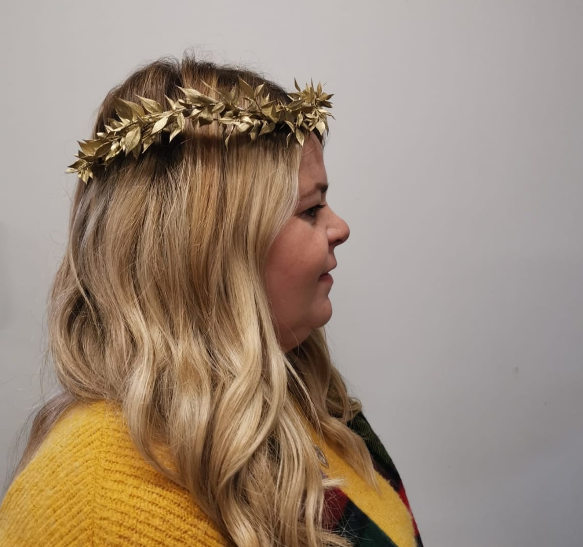 Golden Christmas Crown