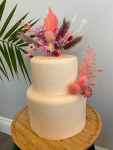 Coral and Pink Cake Topper