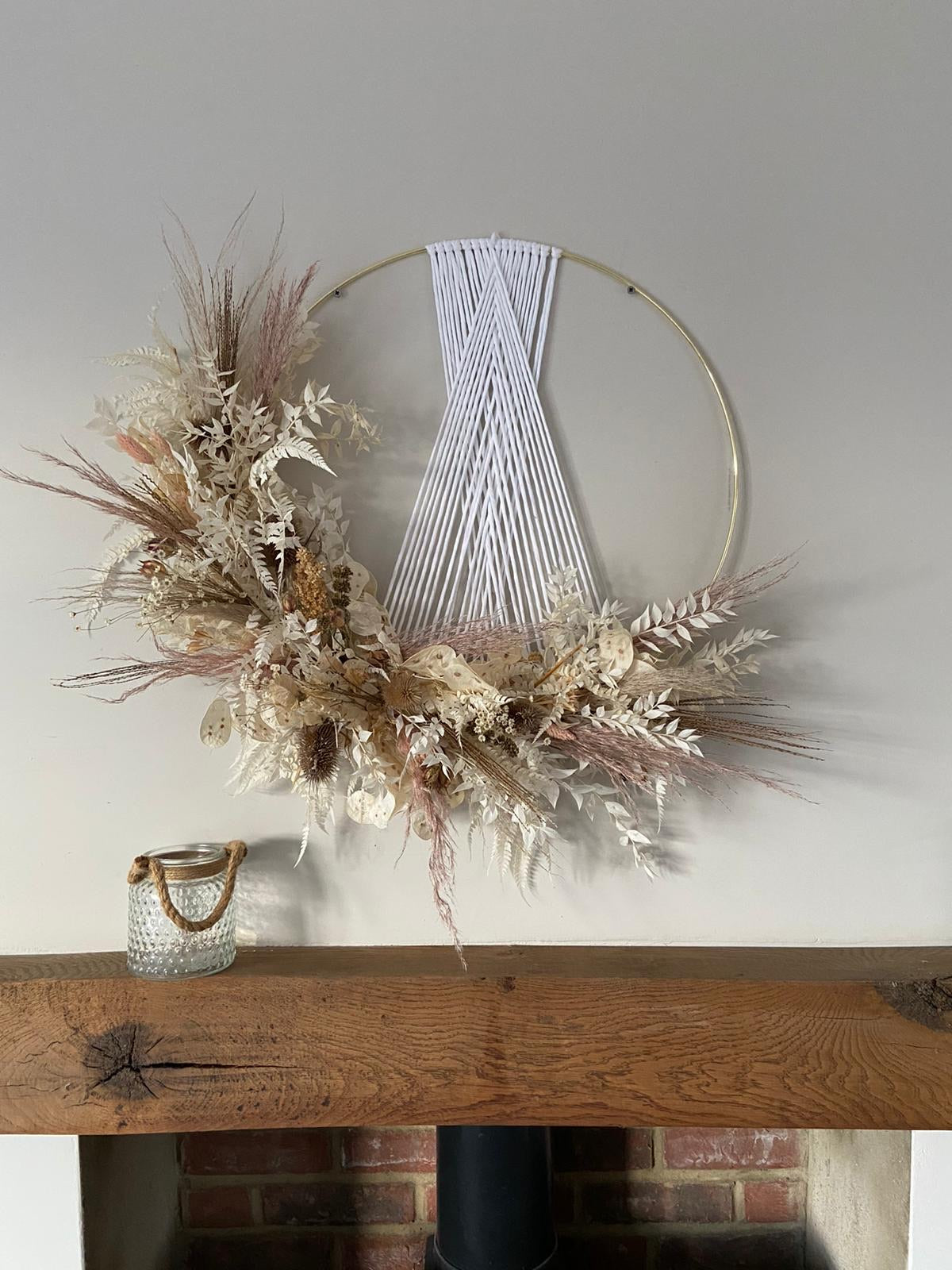 50cm Bespoke Wall Hanger with Dried Florals
