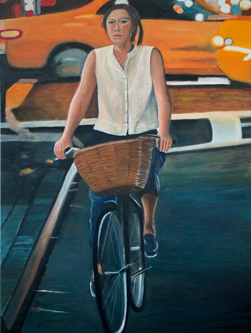 The girl with the bicycle II