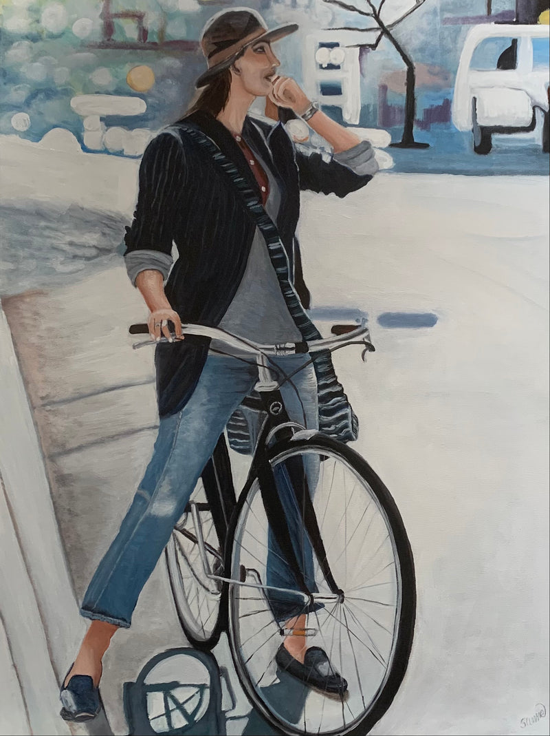 The girl with the bicycle IV