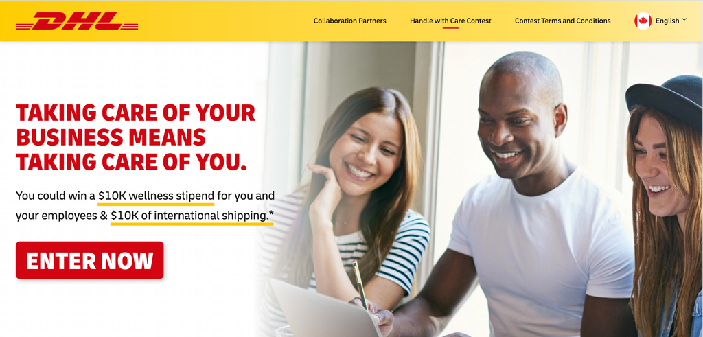 DHL Contest Canada Small Business BIPOC Self Care | Hustl Works
